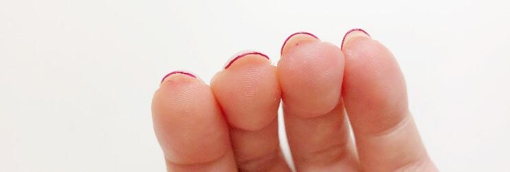 爪の先端を塗る