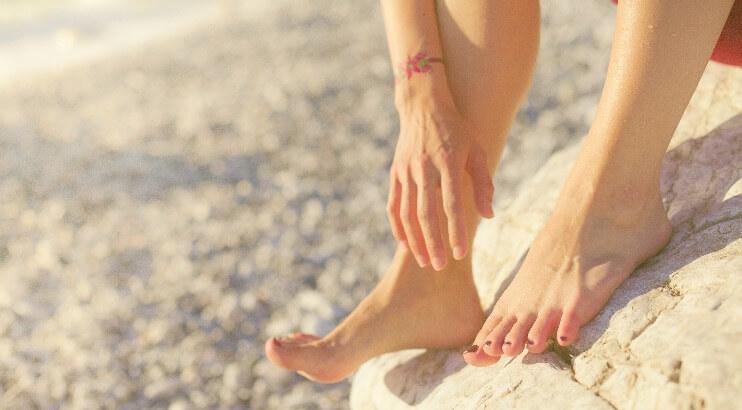 角質のない綺麗な足