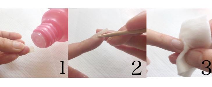 ネイルチップの取り方手順