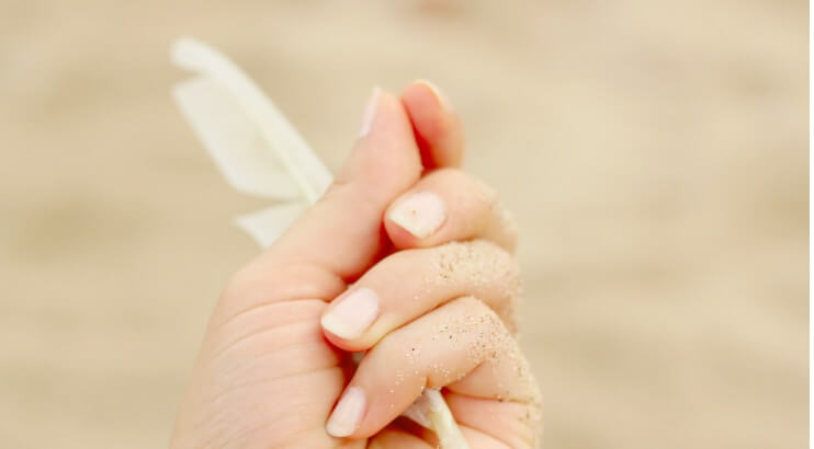 保湿された爪